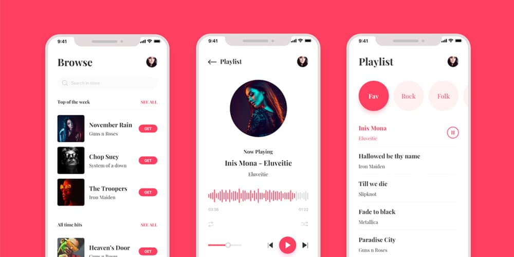 Music Player App UI Kit