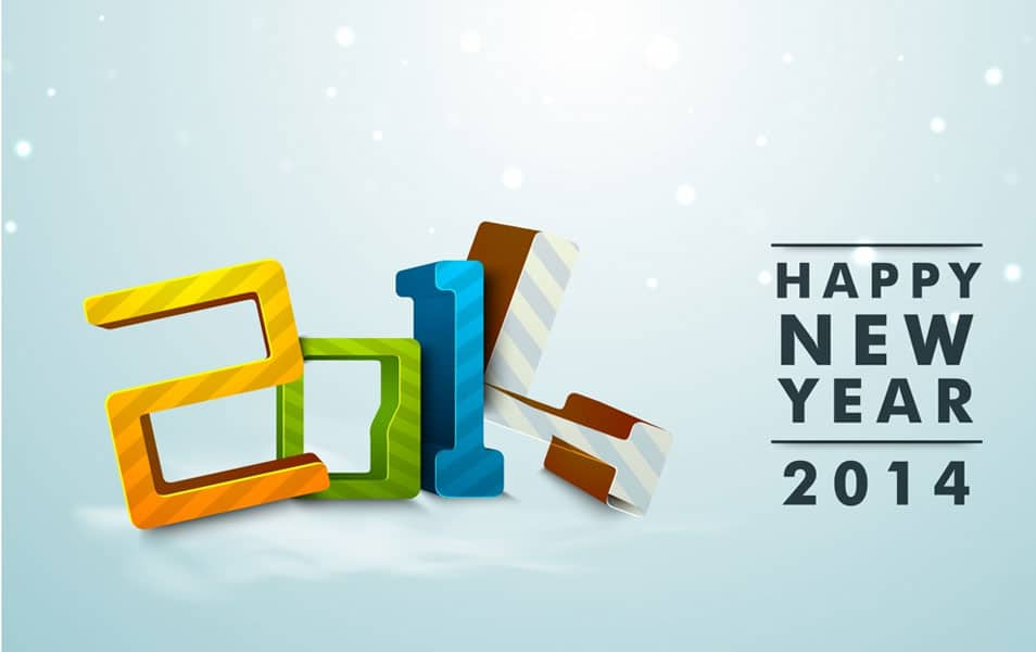 New Year 2014 Celebration HD Wallpaper