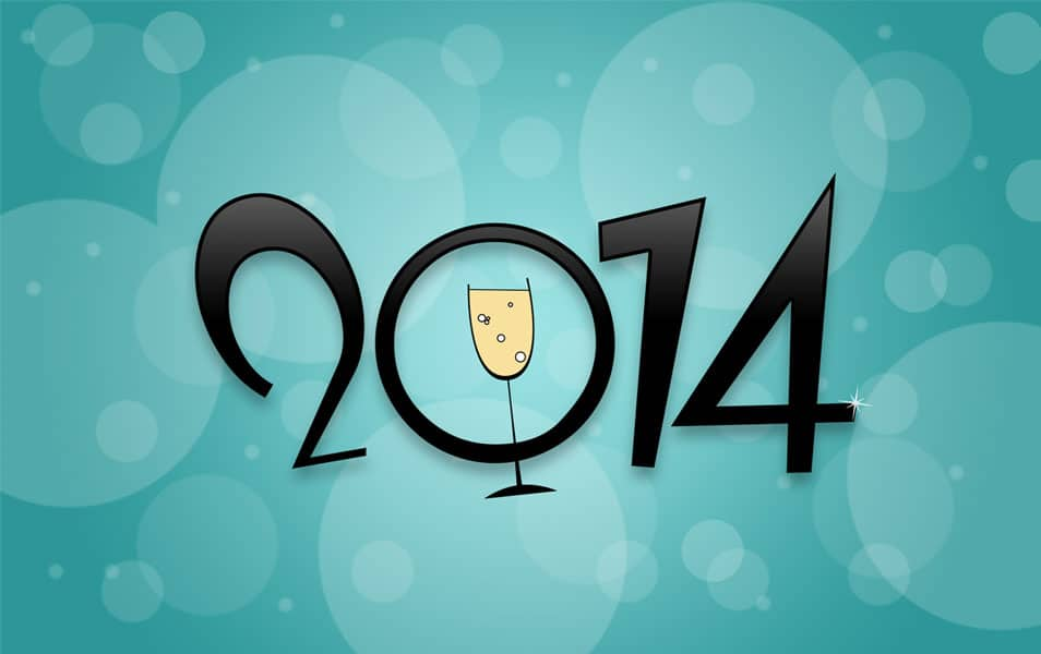 New Year 2014 HD Wallpaper