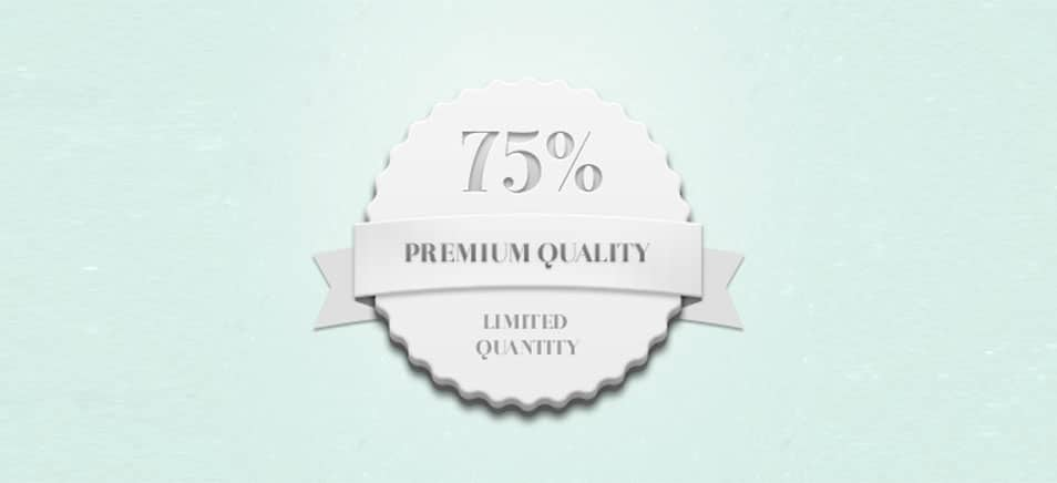 Quality / Quantity Badge (Psd)
