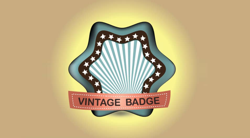 Retro Vintage Badge Vector