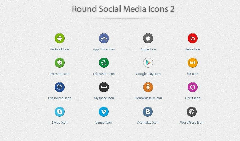 500 Best Free Social Media Icon Sets Free Icon Sets