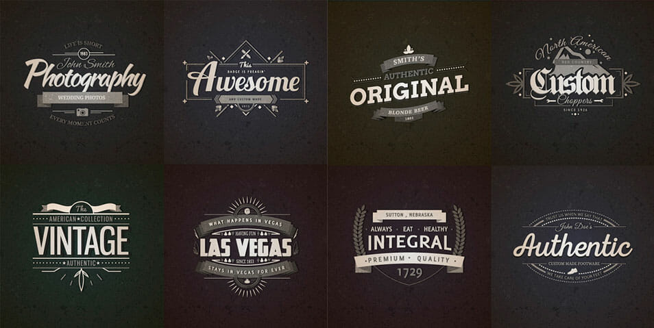 10 Retro Vintage Badges Vol.1
