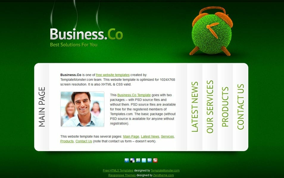 500 best free responsive html5 css3 website templates zbusinessco flashek