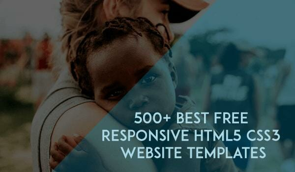 500 Best Free Responsive Html5 Css3 Website Templates