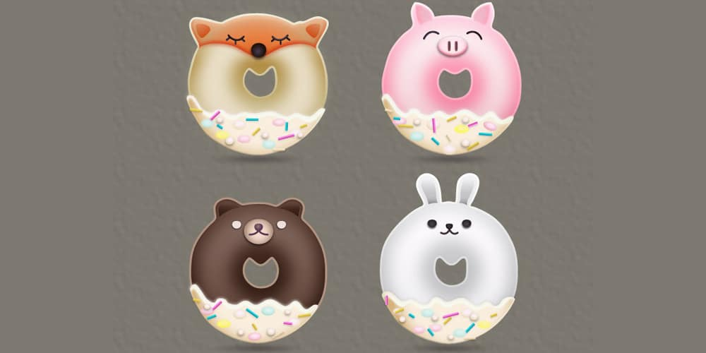 Animal-Donuts-Designs
