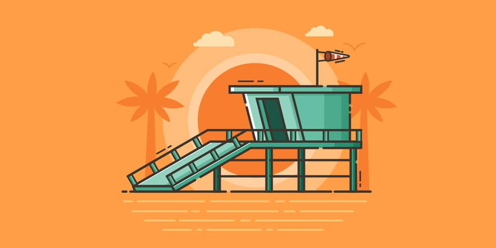 Create a Beach Guard Tower Illustration in Adobe Illustrator