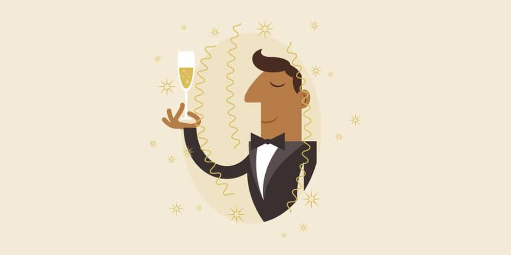 Champagne Celebration Illustration