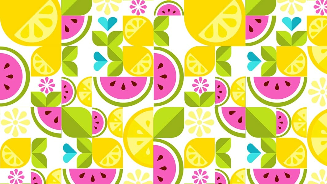 Create a Simple Shape Fruit Vector Design