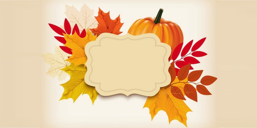 Create a Thanksgiving Background With a Pumpkin and Leaves in Adobe Illustrator