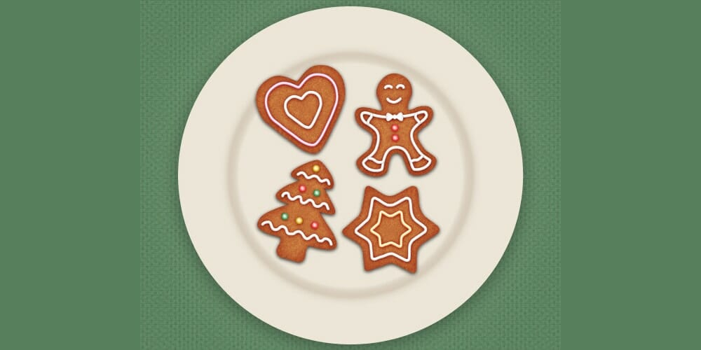 Draw Gingerbread Cookie Icons in Adobe Illustrator