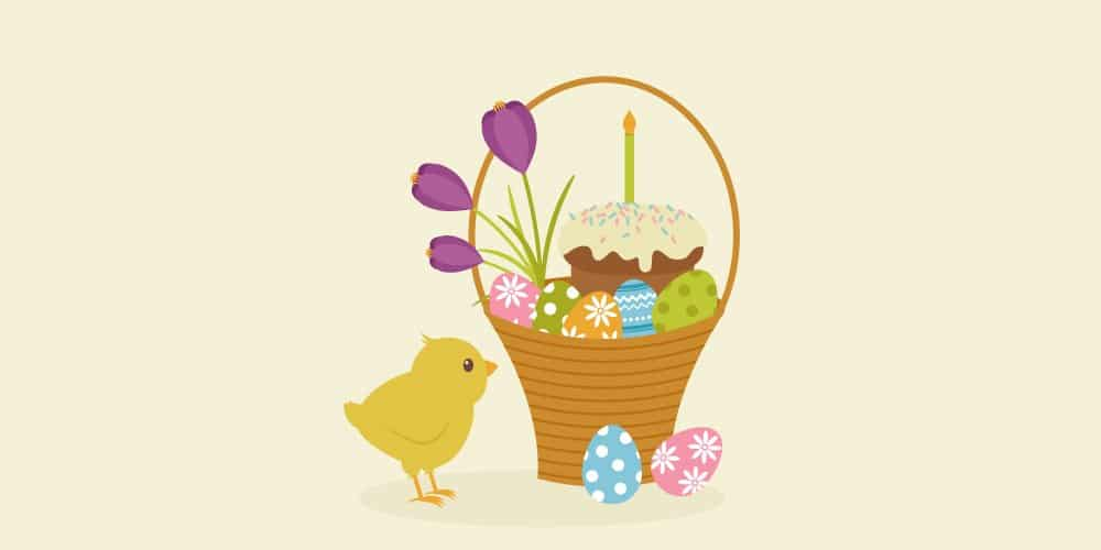 Easter Basket Illustration
