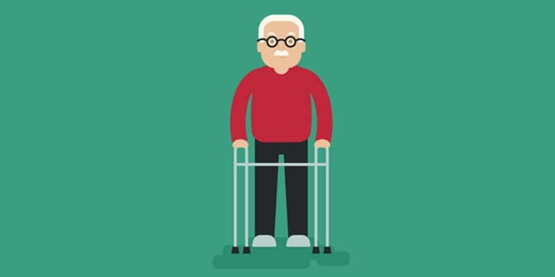 Elderly Man Illustration