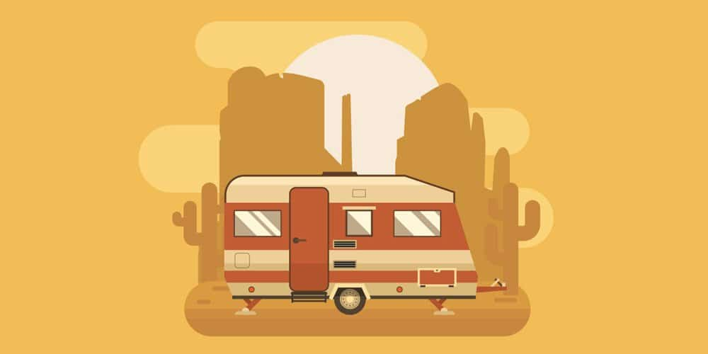 Golden Camping Trailer
