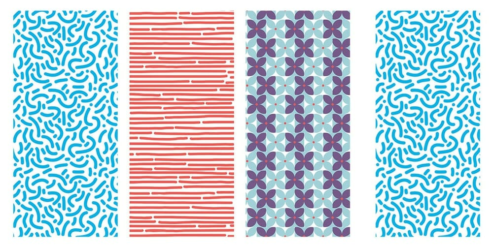 Hand Drawn Retro Patterns