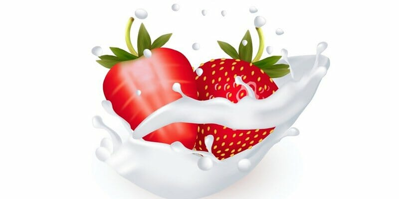 How to Use Gradient Mesh to Create Strawberries in a Milk Splash