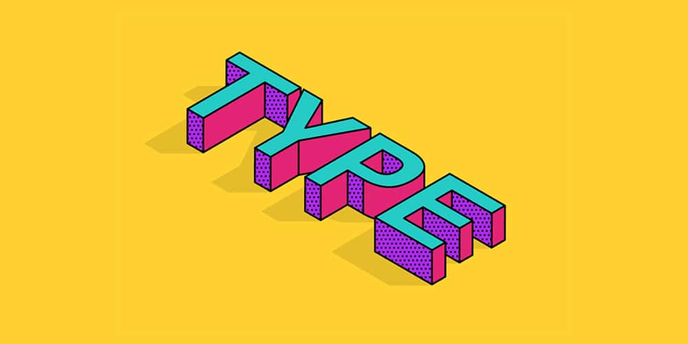 Isometric Type Effect