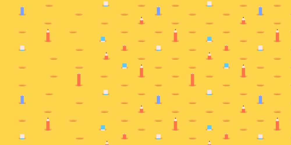 Pencil-Themed-Seamless-Pattern