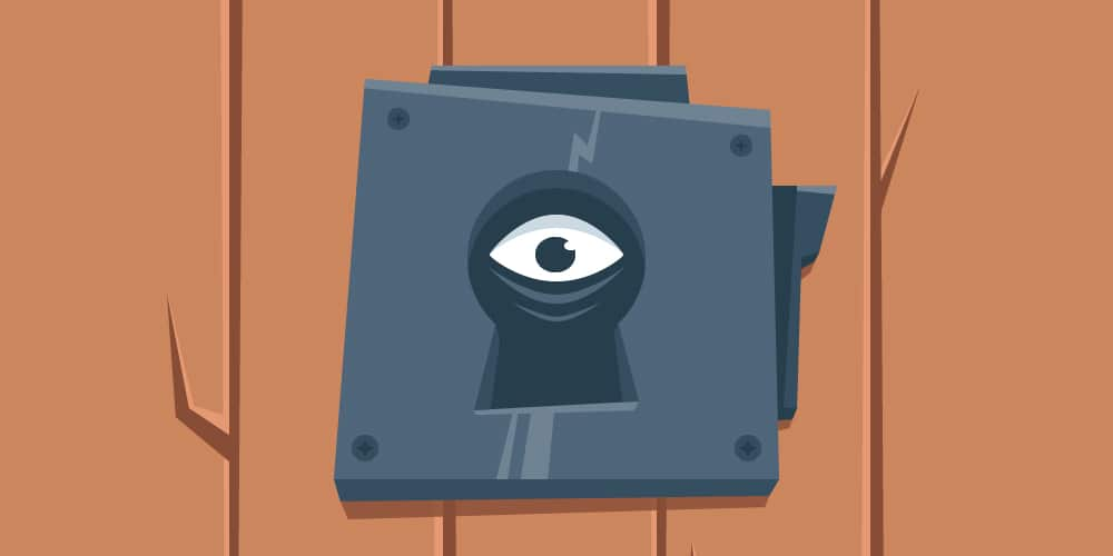 Scary-Look-Through-The-Keyhole-Illustration