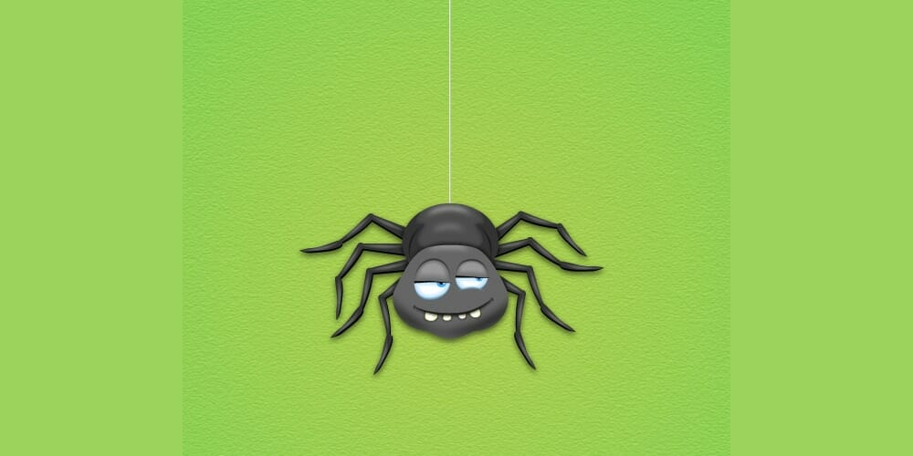 Spider Cartoon Character