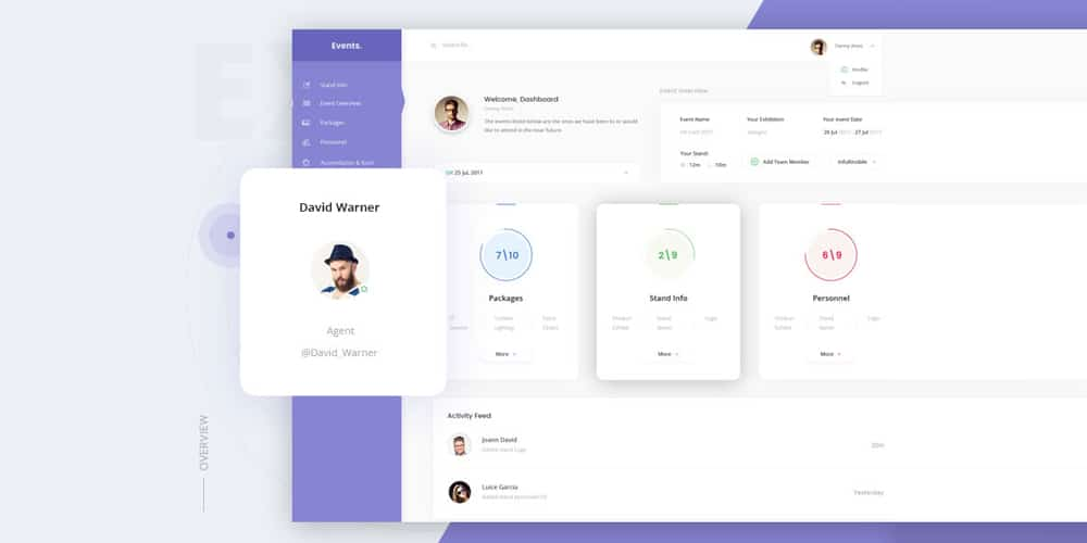Events Dashboard PSD