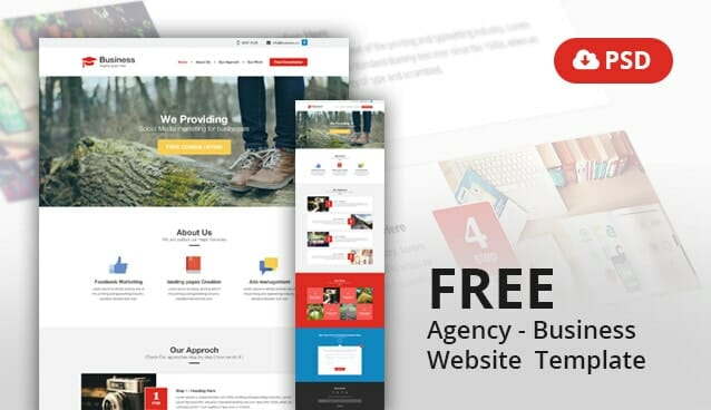 Agency business website template psd css author friedricerecipe Images