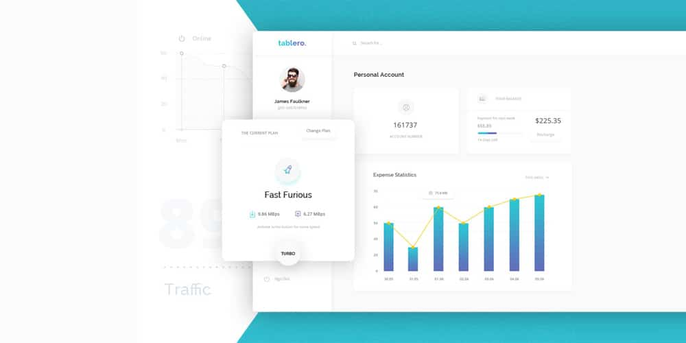 Personal Account Dashboard PSD