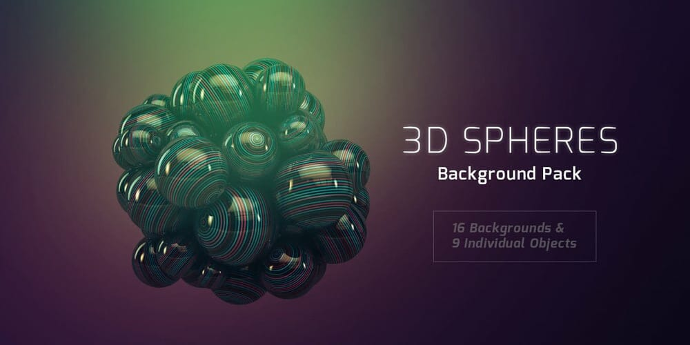3D Sphere Backgrounds