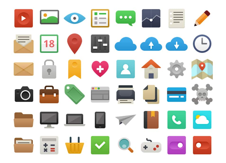 48 Free Vector Flat Icons