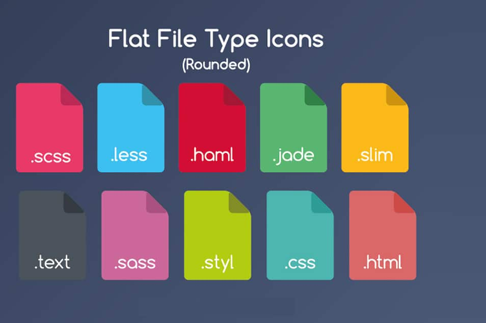 Flat File Type Icons
