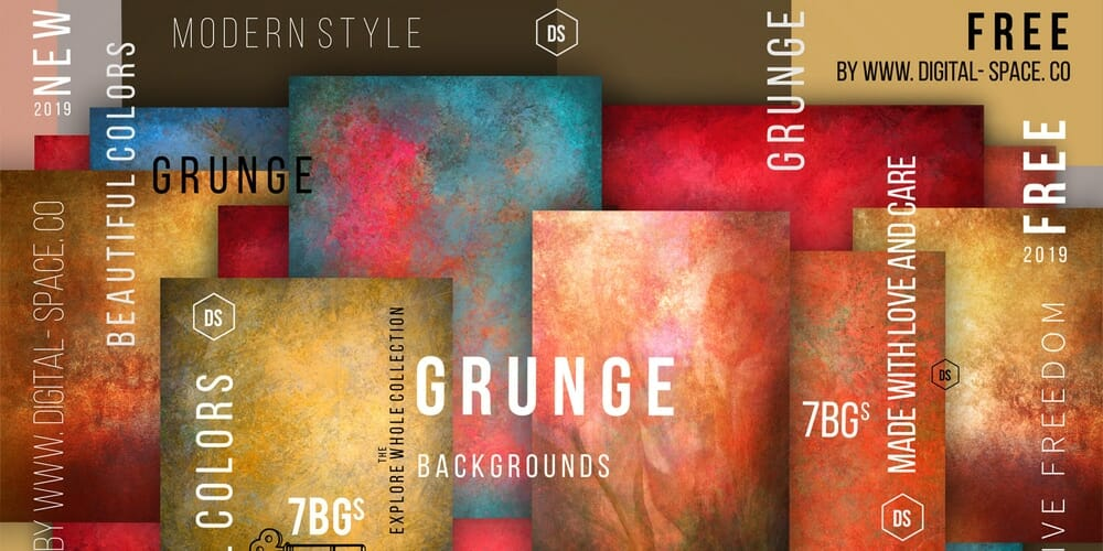 Free Bold and Energetic Grunge Backgrounds