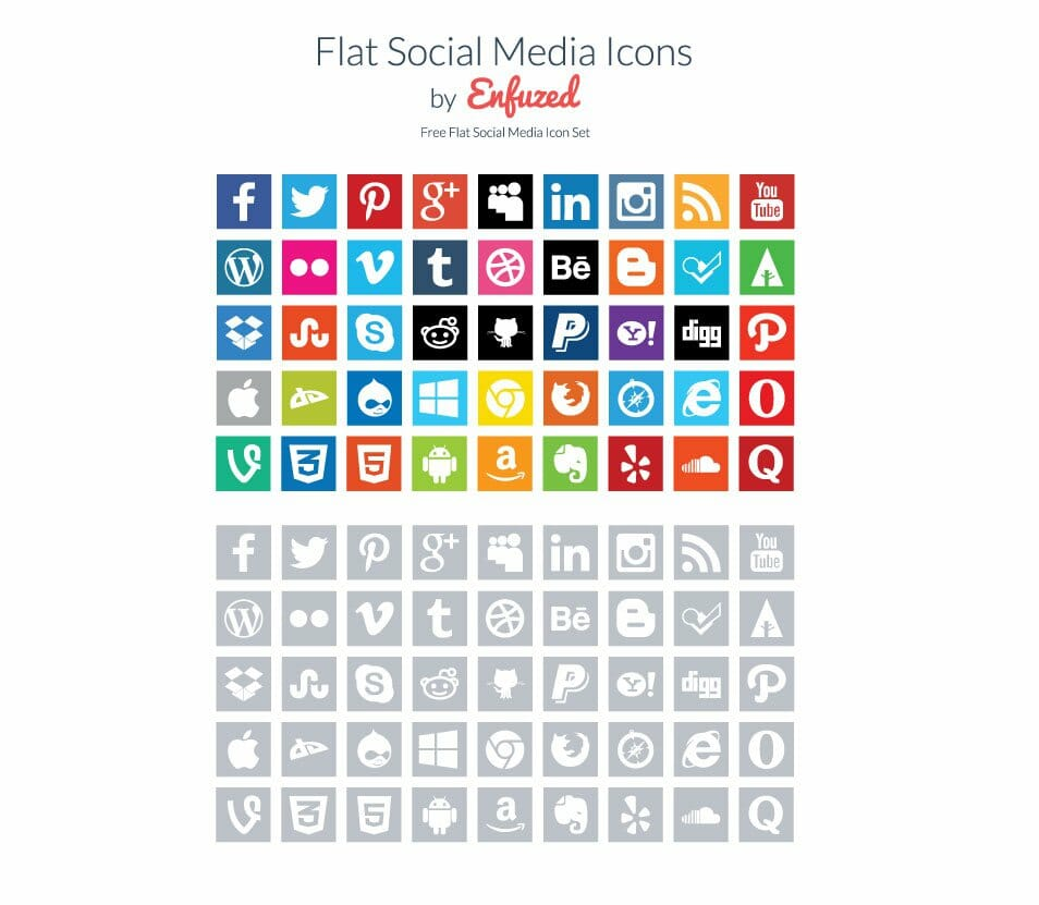 180 free flat icon sets css author