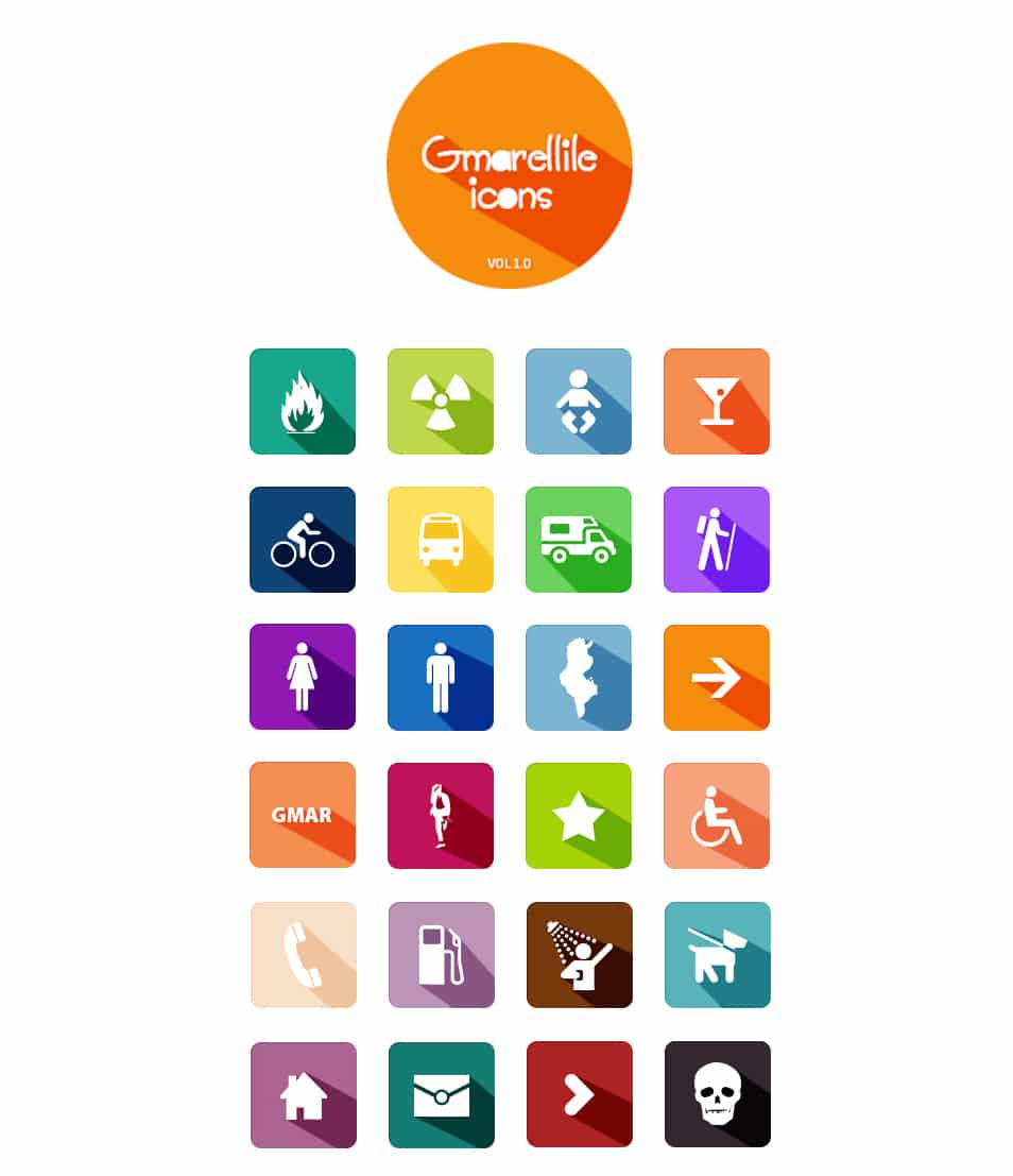 Gmarellile Flat Icons Collections