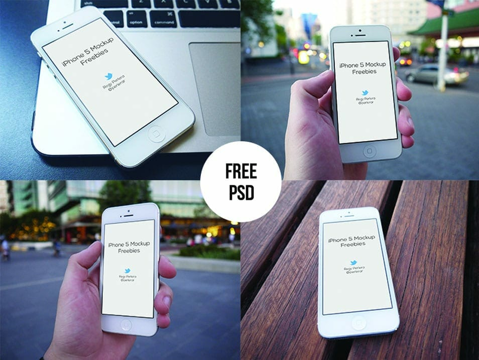 Free iPhone 5 Mockups PSD