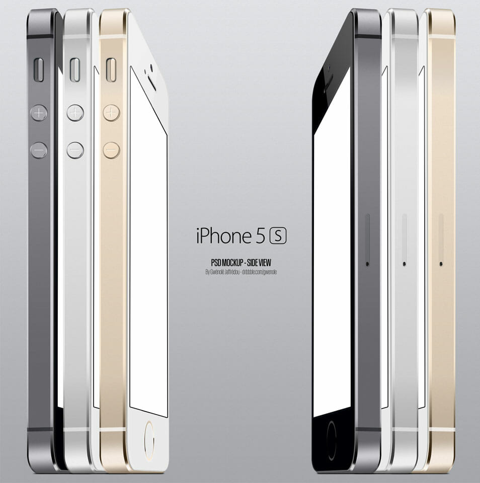Iphone 5S Side View PSD
