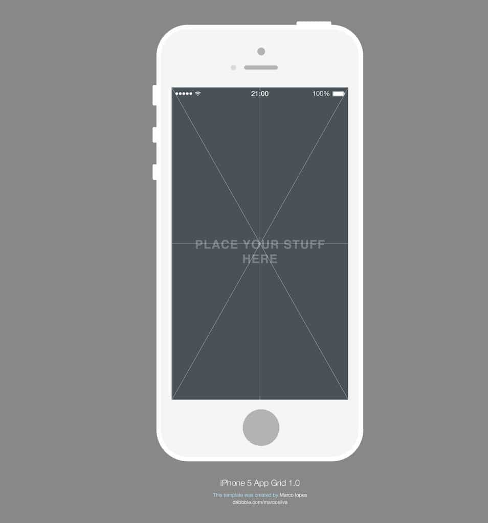 Iphone free psd grid