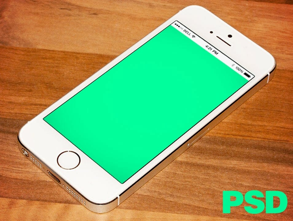 Realistic iPhone 5s PSD