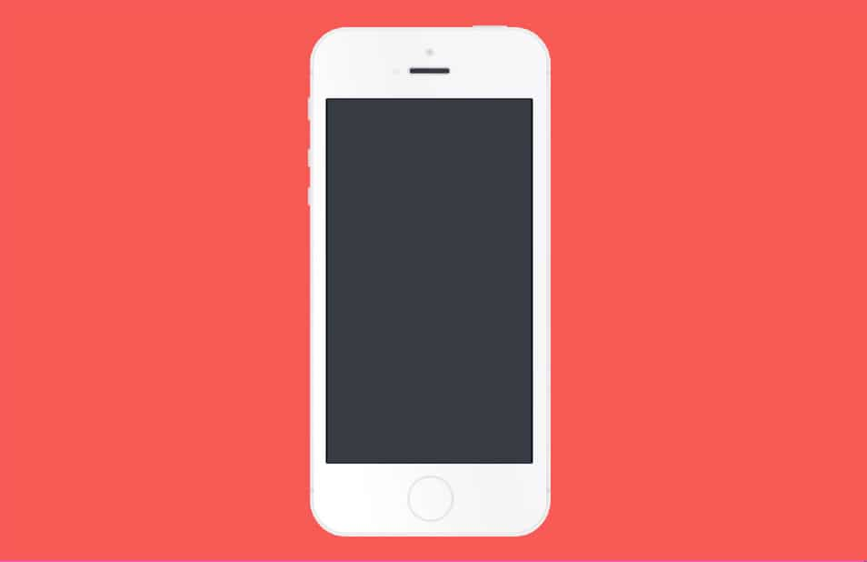 White Flat IPhone 5S PSD