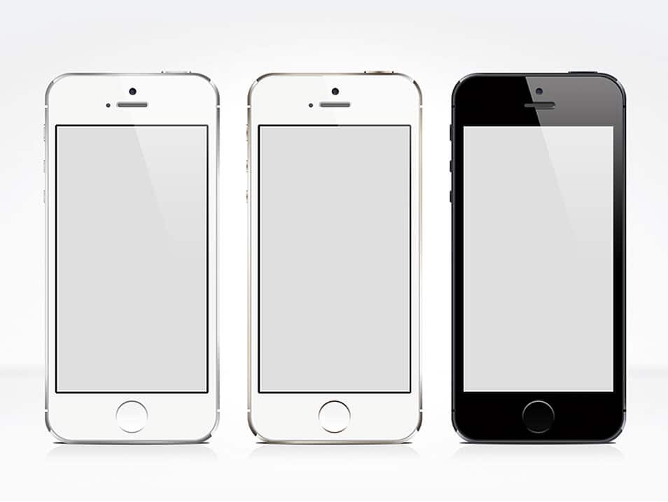 iPhone 5S Free PSD Mock-up