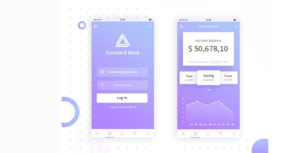 Banking Mobile App UI PSD