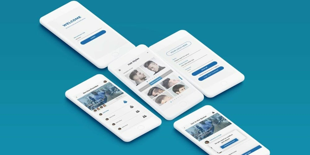 Barber Booking App UI PSD