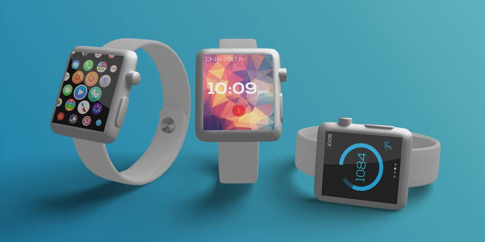 Basic Apple Watch Mockup PSD
