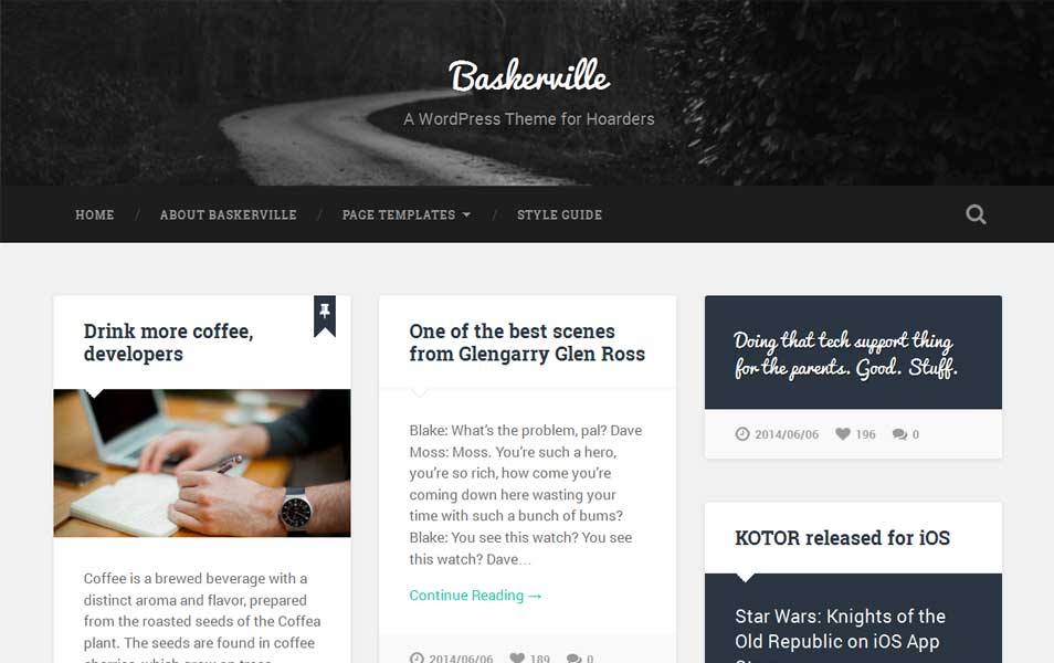 Baskerville Free WordPress Theme