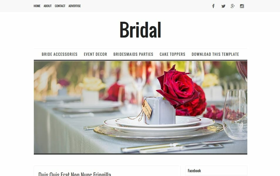 Bridal Responsive Blogger Template
