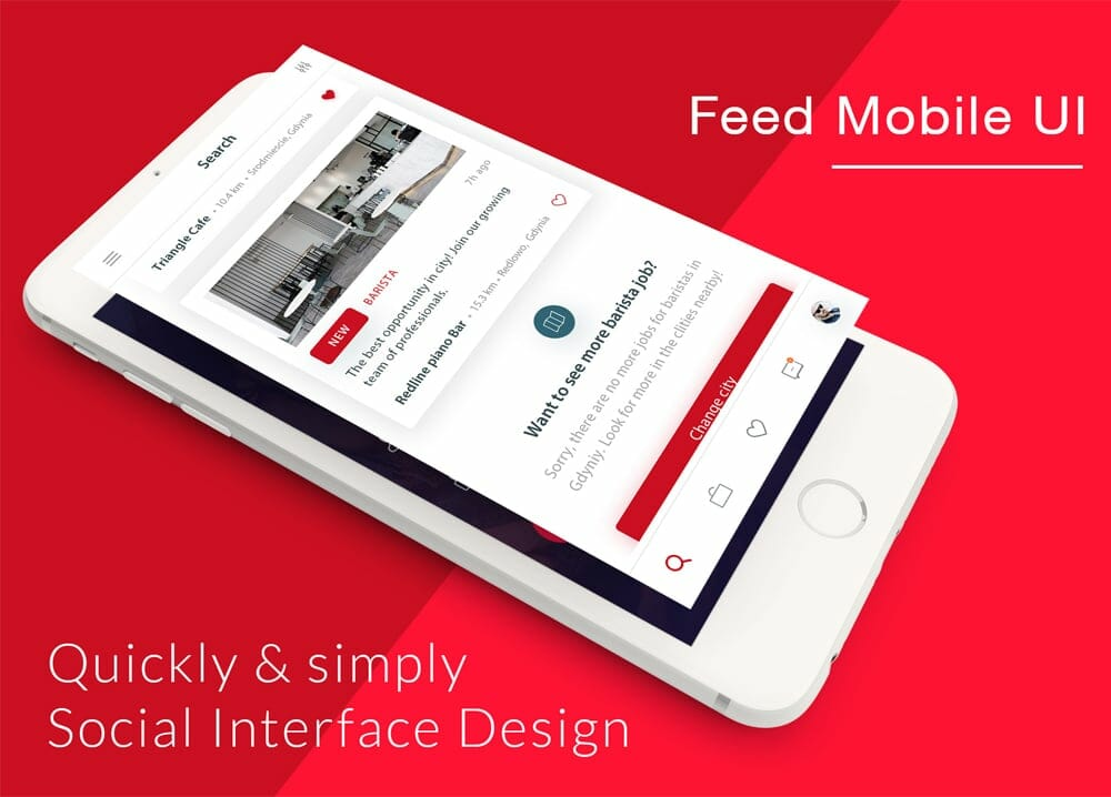 Coffee Cafe Feed Mobile UI PSD