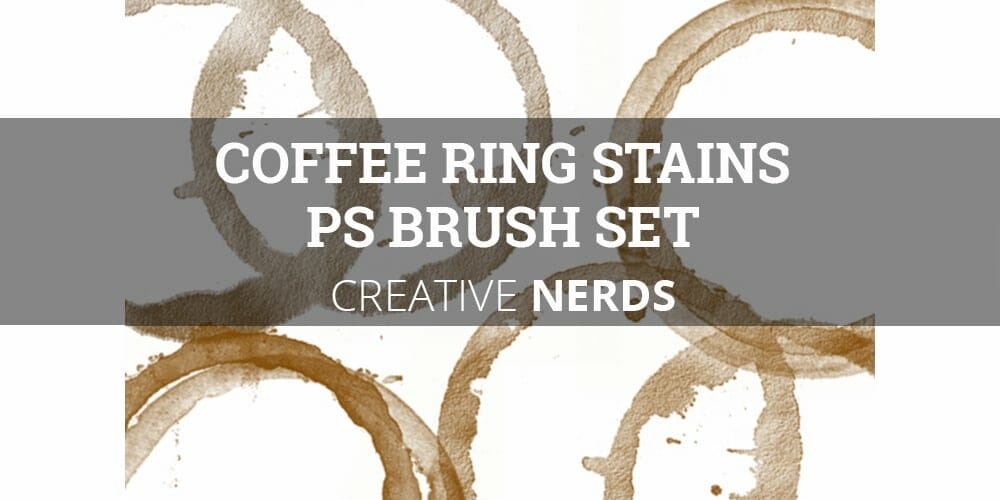 Coffee Ring Stains Photoshop Brush