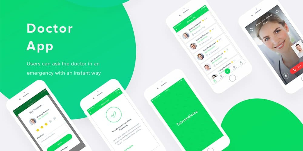 Doctor Mobile App UI PSD