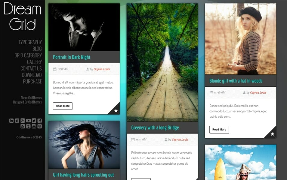 DreamGrid Multipurpose Responsive Blogger Template
