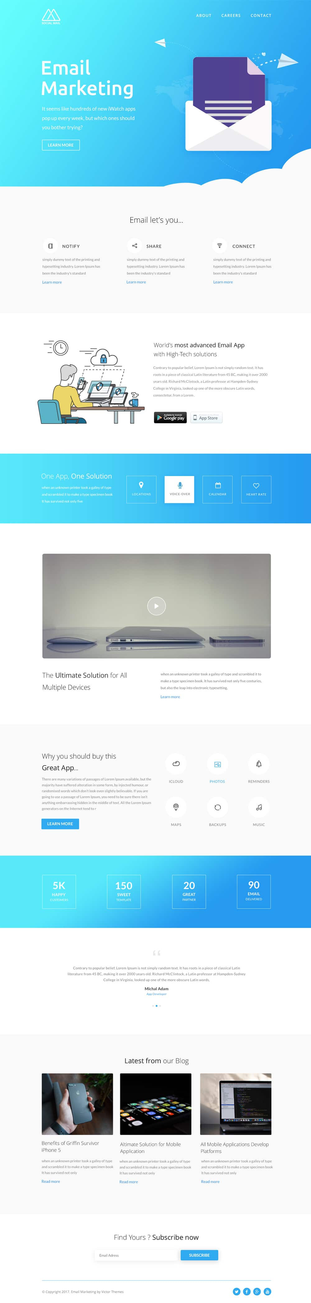 Email Newsletter Template PSD