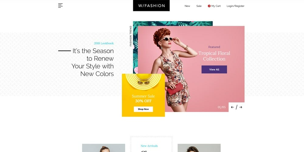 Free ecommerce web templates psd css author fashion store web template psd maxwellsz